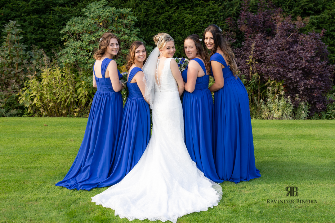 formal photograph of bride and bridesmaids