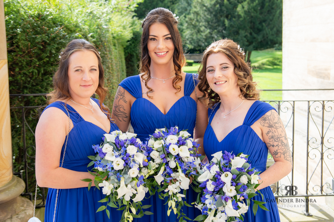 photo of the bridesmaids together with their bouquets