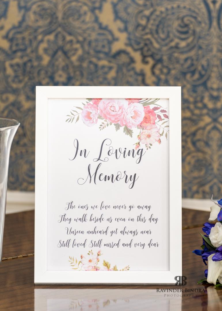 signage photo at wedding ceremony