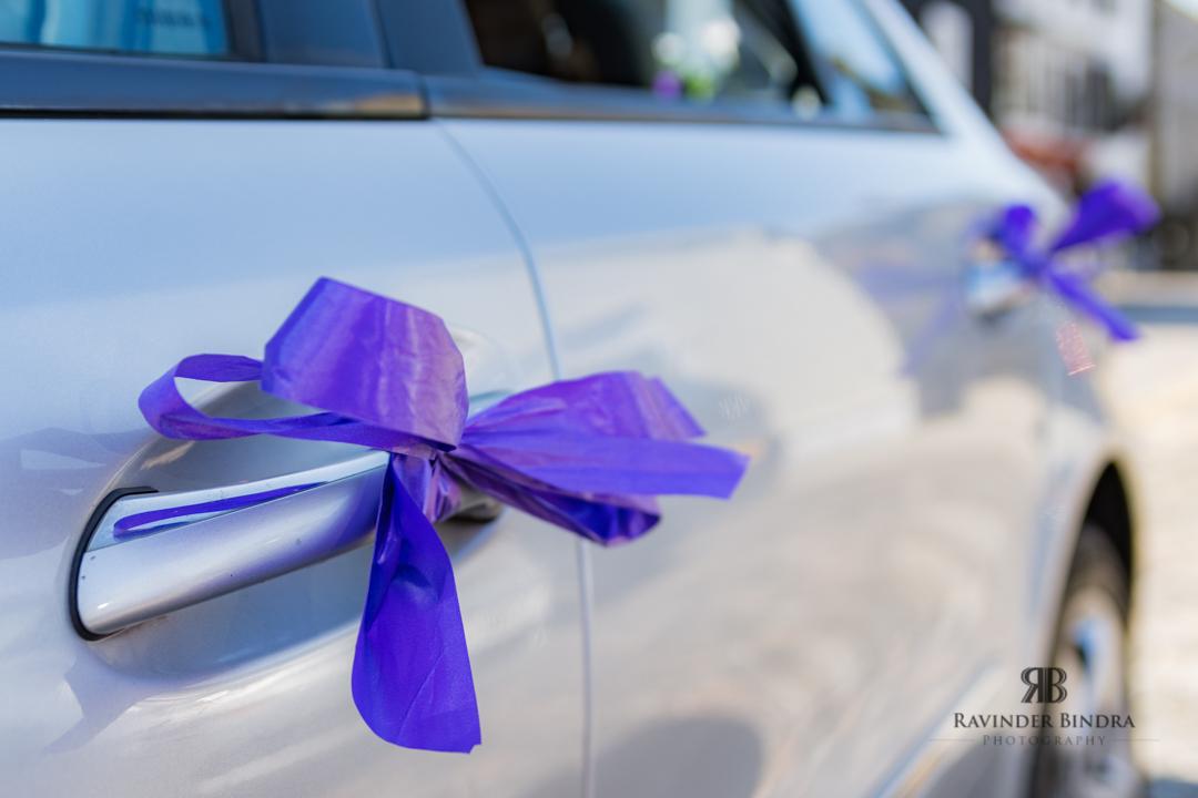 photo of wedding car