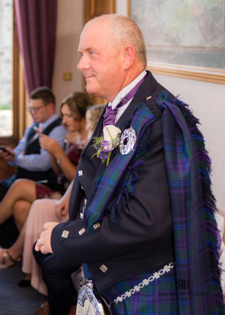 groom waiting at wedding ceremony