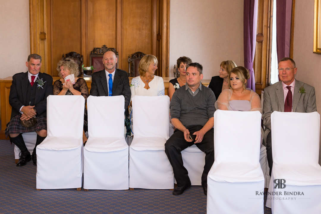 photo of guests at wedding ceremony