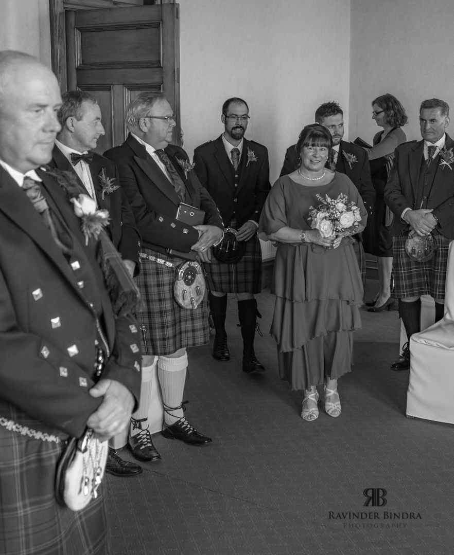 first look of bride at south queensferry wedding