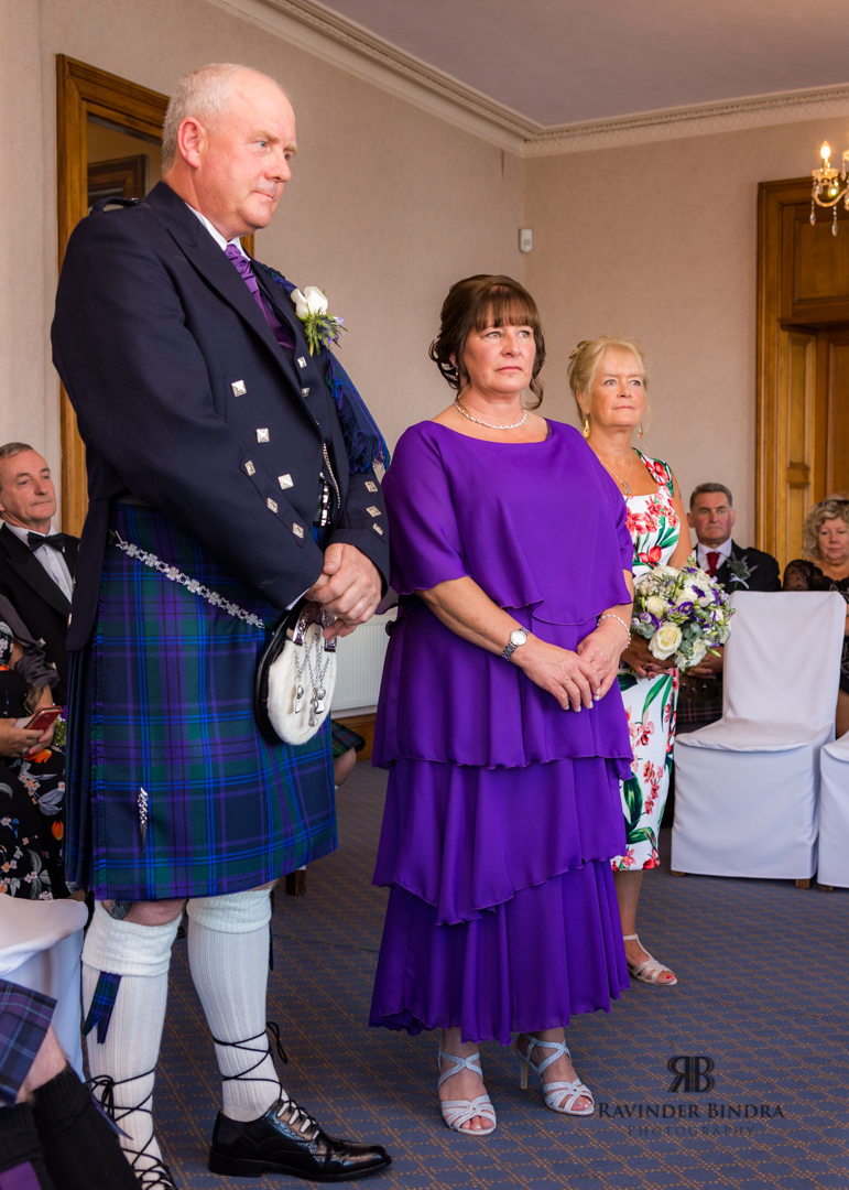 bride and groom in south queensferry wedding