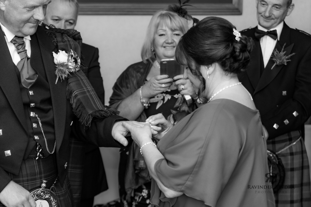 bride and groom photo at wedding ceremony