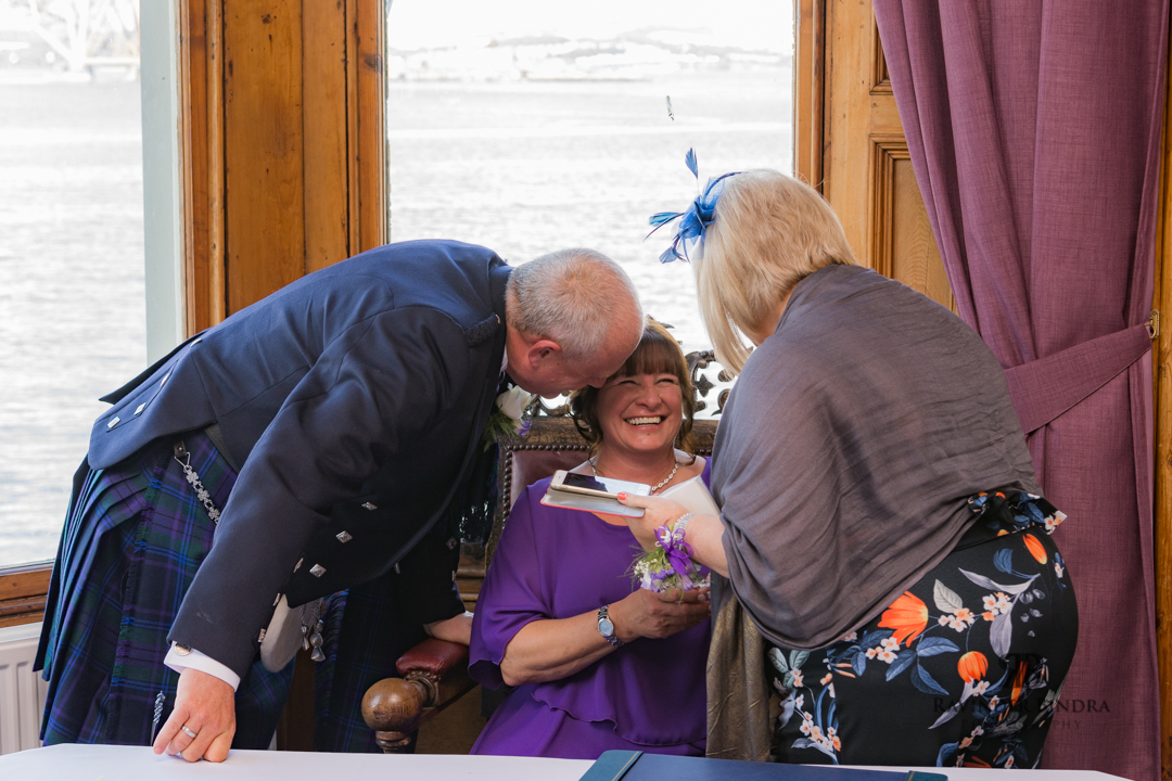 bride and groom photo at south queensferry wedding