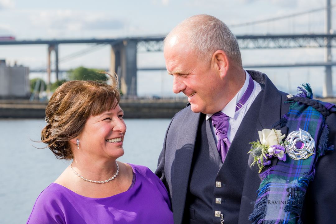 bride and groom photo in south queensferry