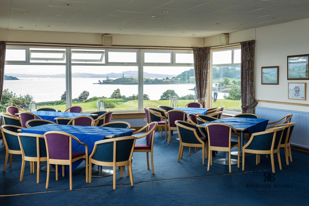 wedding reception room at aberdour golf club in fife