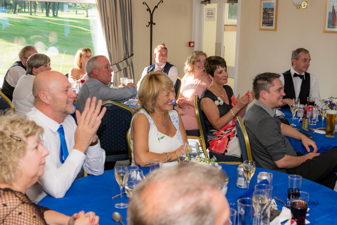 guests enjoying fife wedding reception