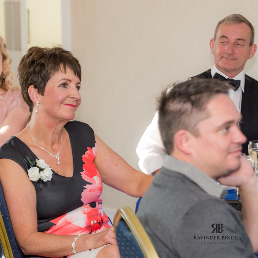 guests smiling during fife wedding reception