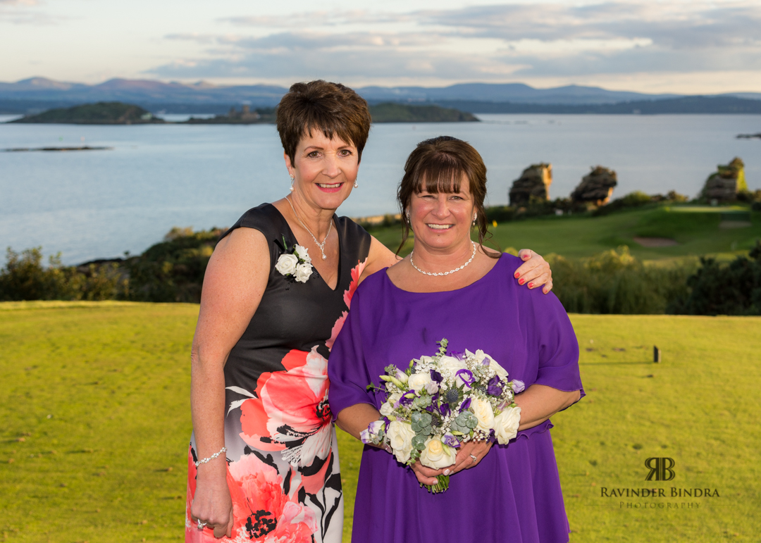 photo of bride and friend at fife wedding
