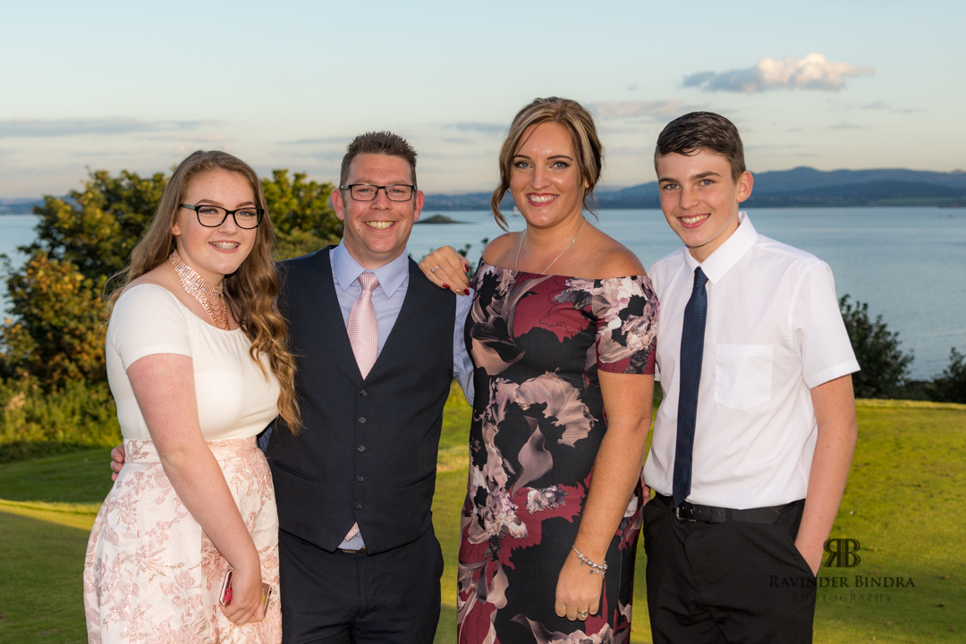 photo of guests at aberdour fife wedding