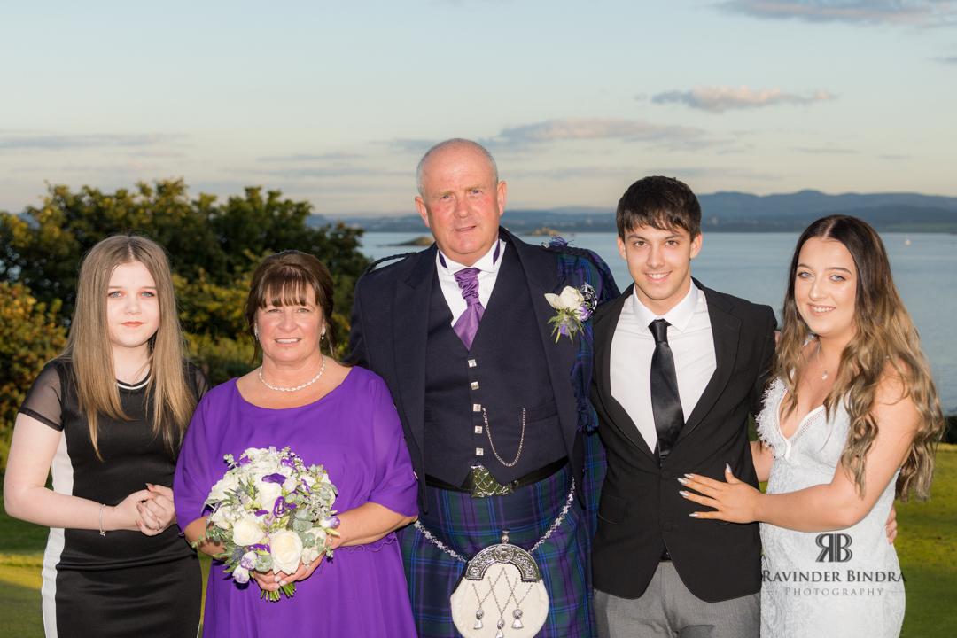 family photo at fife wedding