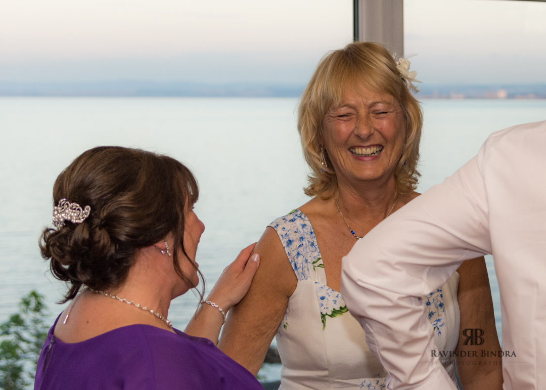 wedding guests at fife wedding